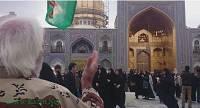حرم امام رضا ایوان طلا رزم انتظاران