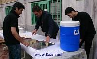 ایستگاه توزیع صلواتی شربت خیابان ایران باشگاه سادات