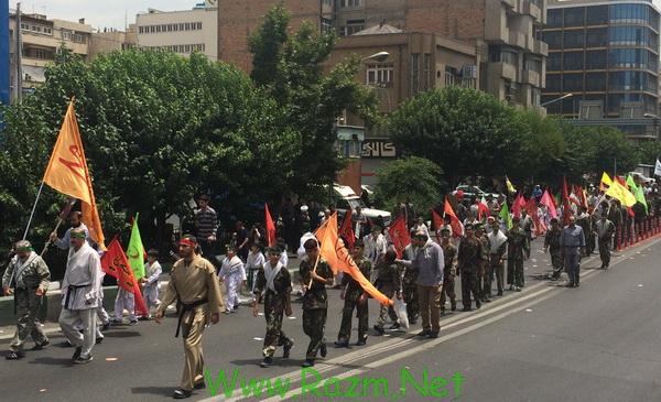 راهپیمایی روز جهانی قدس رزم انتظاران